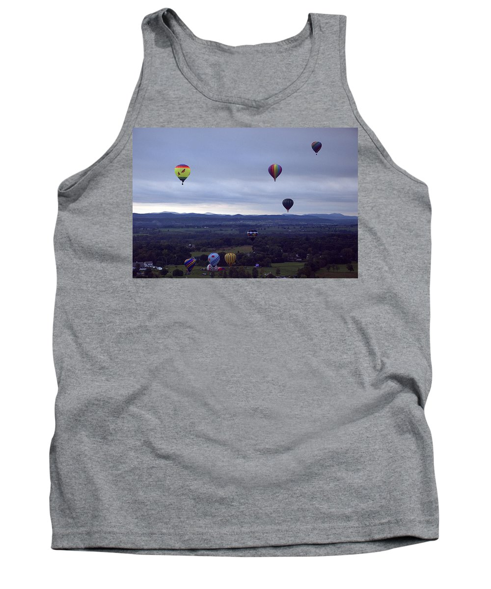 Sunkiss Tank Top featuring the photograph Sunkiss Ballooning 1 by Tony Beaver