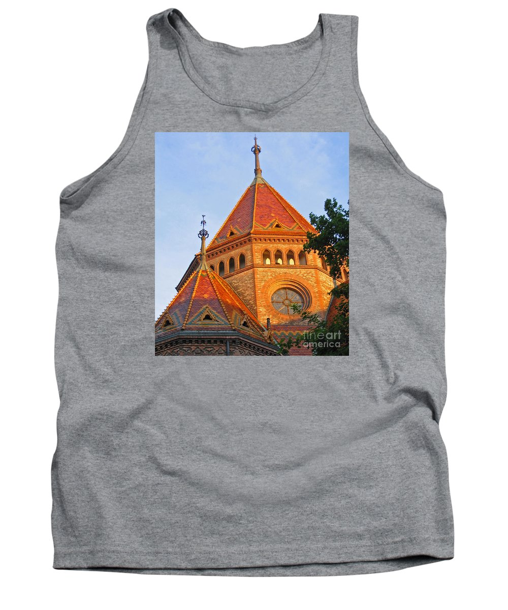 Budapest Tank Top featuring the photograph Sunlit Church Aglow by Ann Horn
