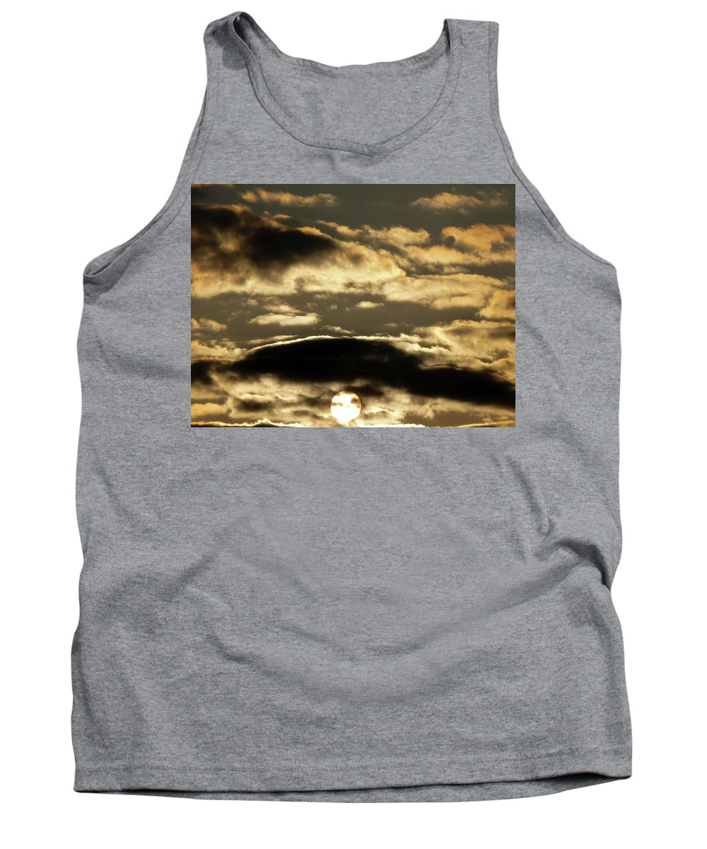 Sun Tank Top featuring the photograph Sunny With Chance Of Clouds by Vm Vassolo