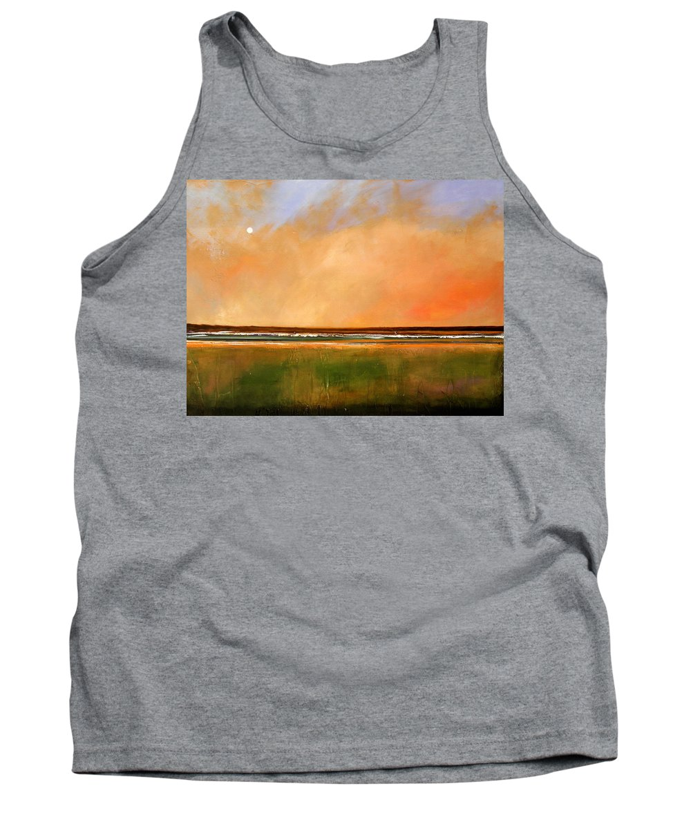 Sunrise Tank Top featuring the painting Sunrise Beach by Toni Grote