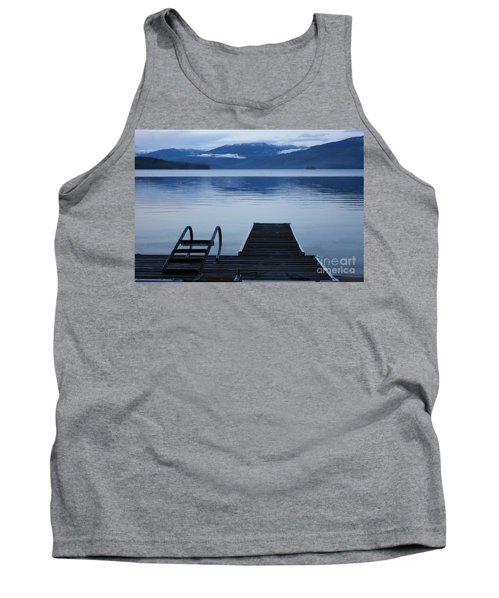 Priest Lake Tank Top featuring the photograph Sunset Dock At Priest Lake by Carol Groenen