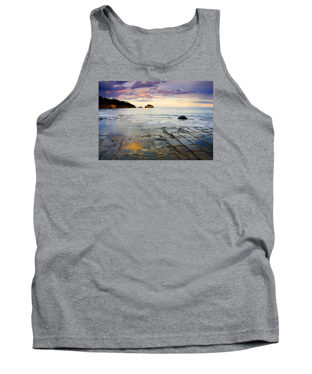 Tesselated Pavement Tank Top featuring the photograph Sunset Grid by Mike Dawson