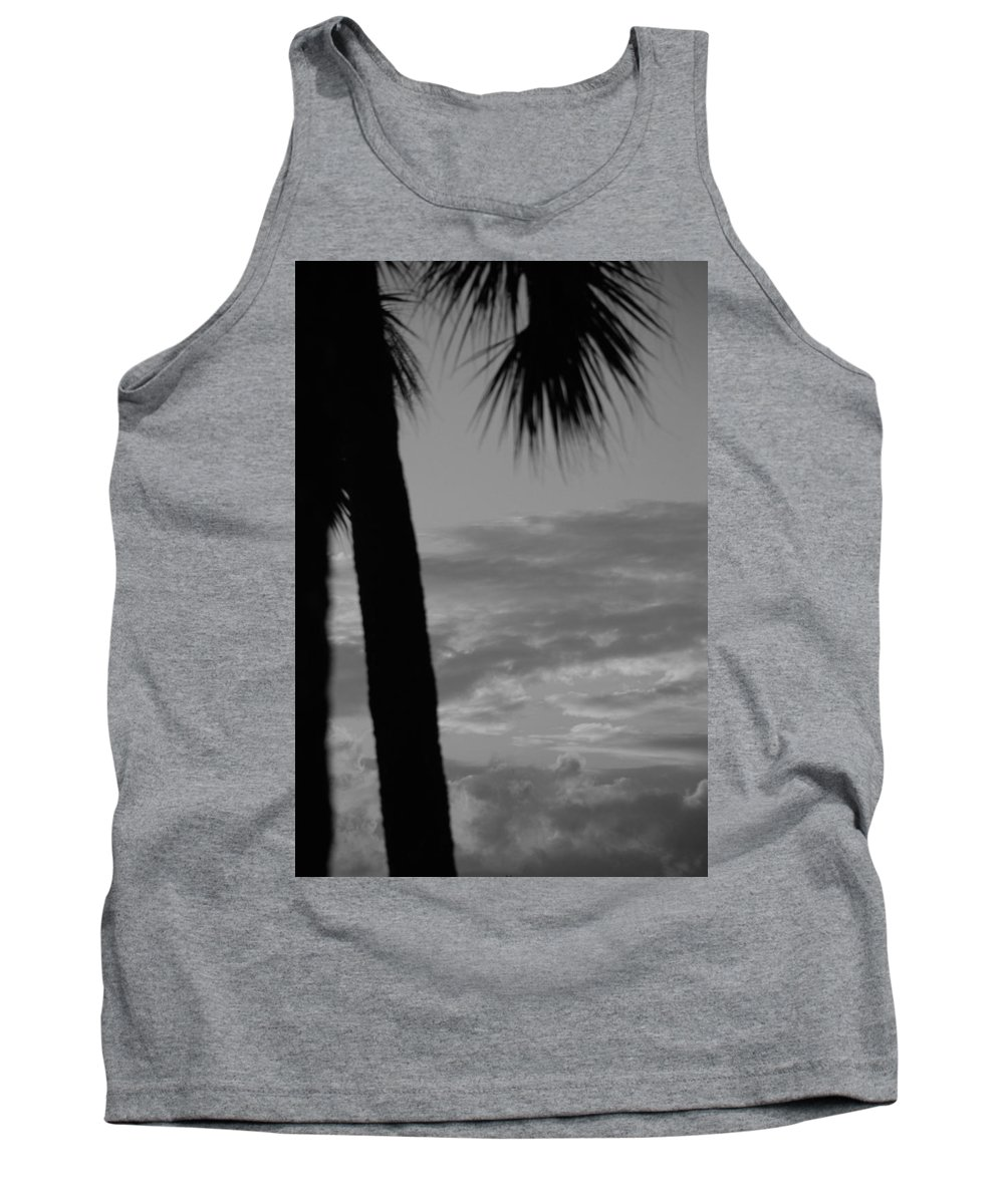 Black And White Tank Top featuring the photograph Sunset In Black And White by Rob Hans
