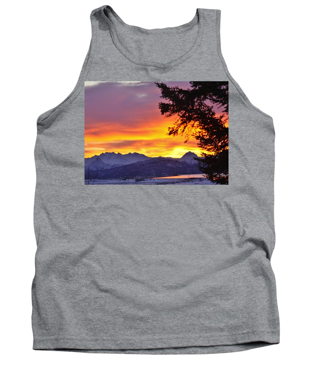 Sunset In Homer Alaska Tank Top featuring the photograph Sunset In Homer Alaska by Lori Mahaffey
