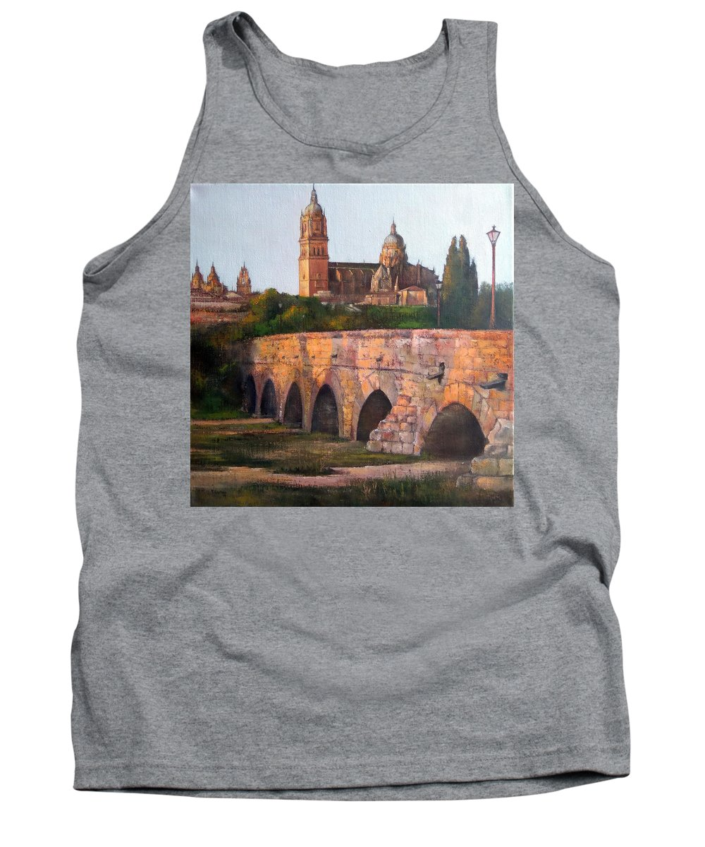 Sunset Tank Top featuring the painting Sunset in Salamanca by Tomas Castano