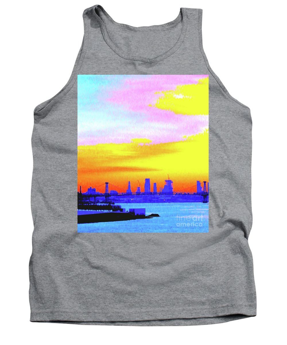 Sunset Tank Top featuring the photograph Sunset Lower Manhattan 2c3 by Ken Lerner