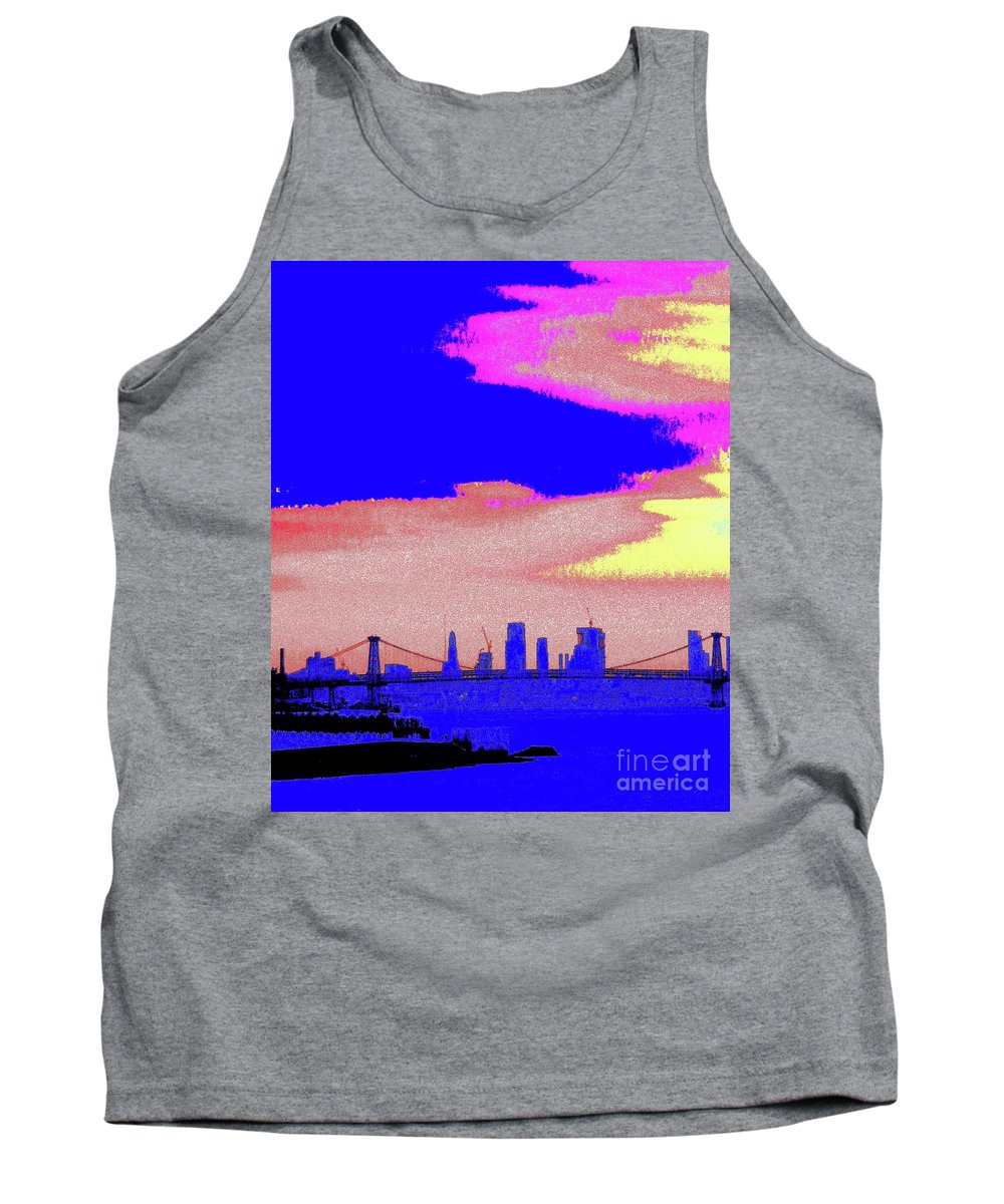 Sunset Tank Top featuring the photograph Sunset Lower Manhattan 2c7 by Ken Lerner