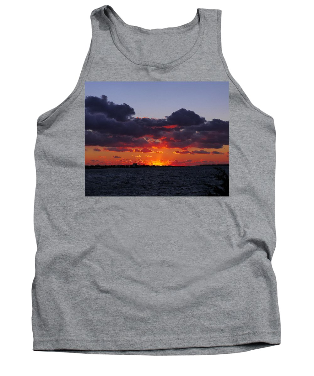 Sunset Tank Top featuring the photograph Sunset Over North Meadow Island by Jack Riordan
