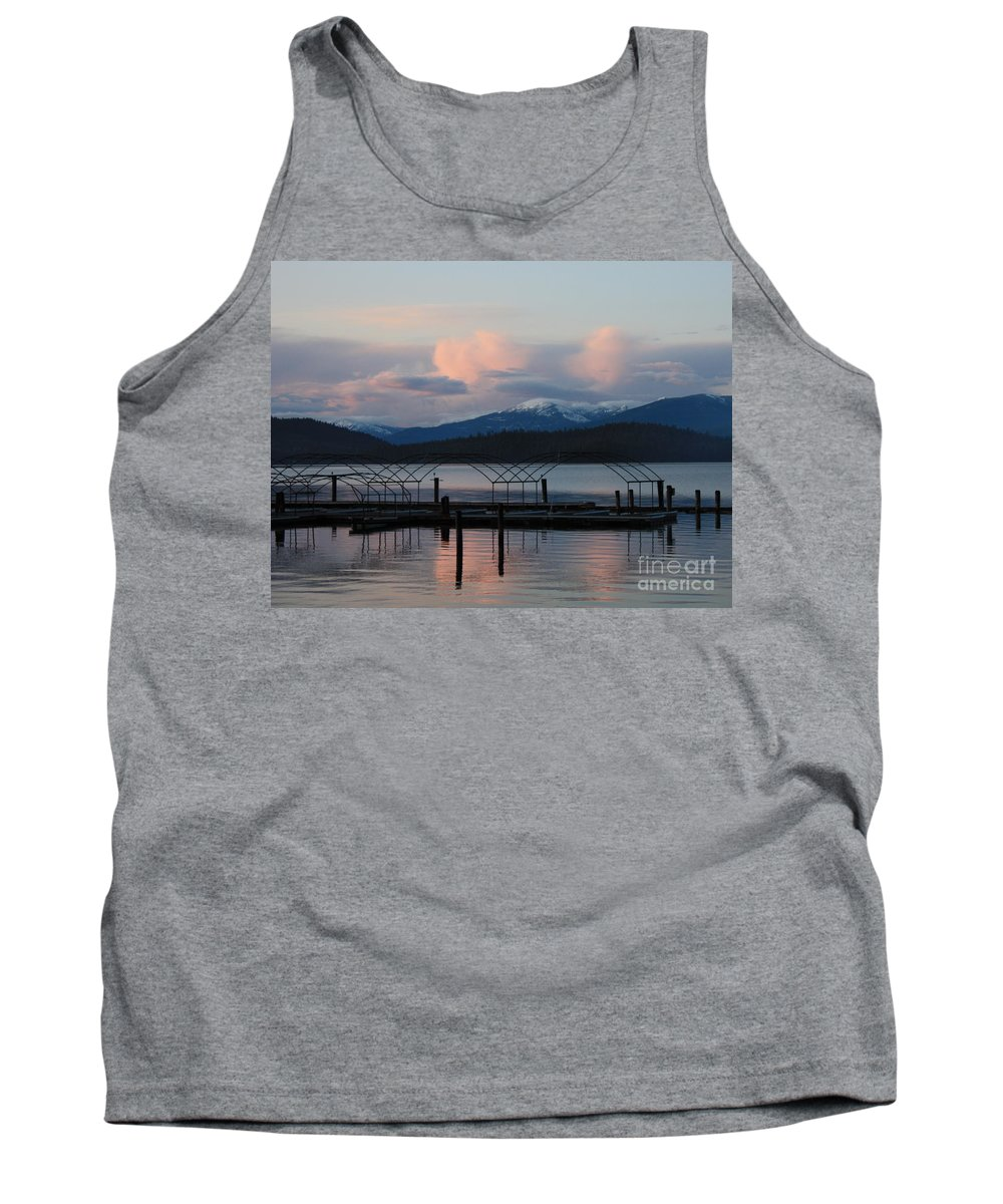Priest Lake Tank Top featuring the photograph Sunset Reflecting Off Priest Lake by Carol Groenen