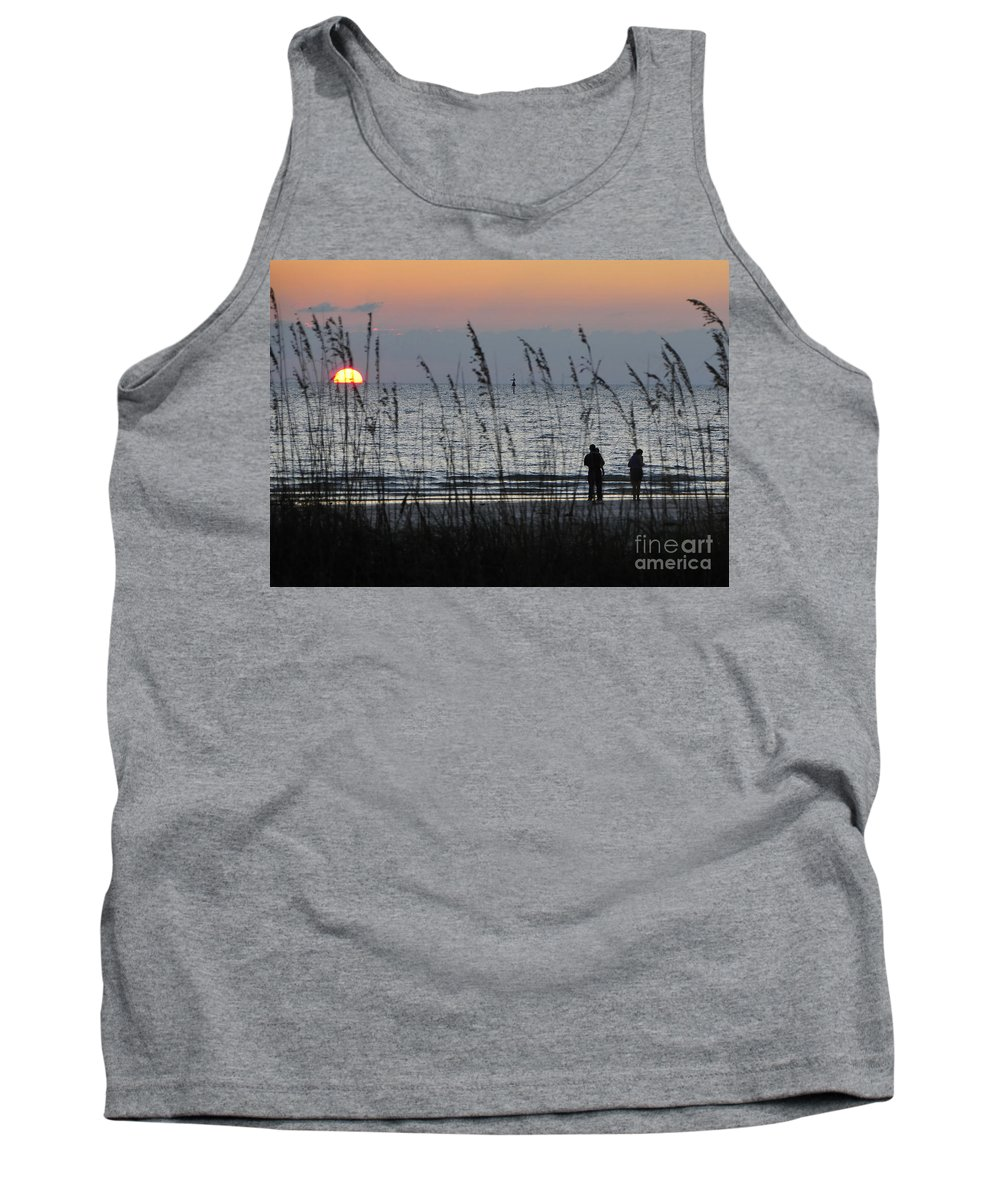 Sunset Tank Top featuring the photograph Sunset Watching by David Lee Thompson