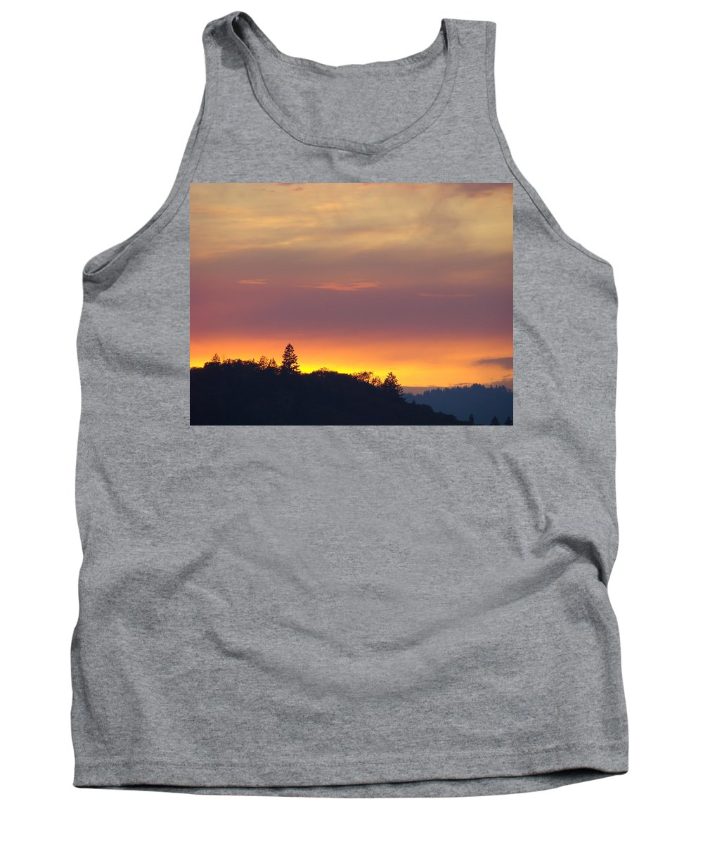 Sunset Tank Top featuring the photograph Sunset Yellow Orange Purple Sunset Giclee Art Prints Baslee Troutman by Baslee Troutman