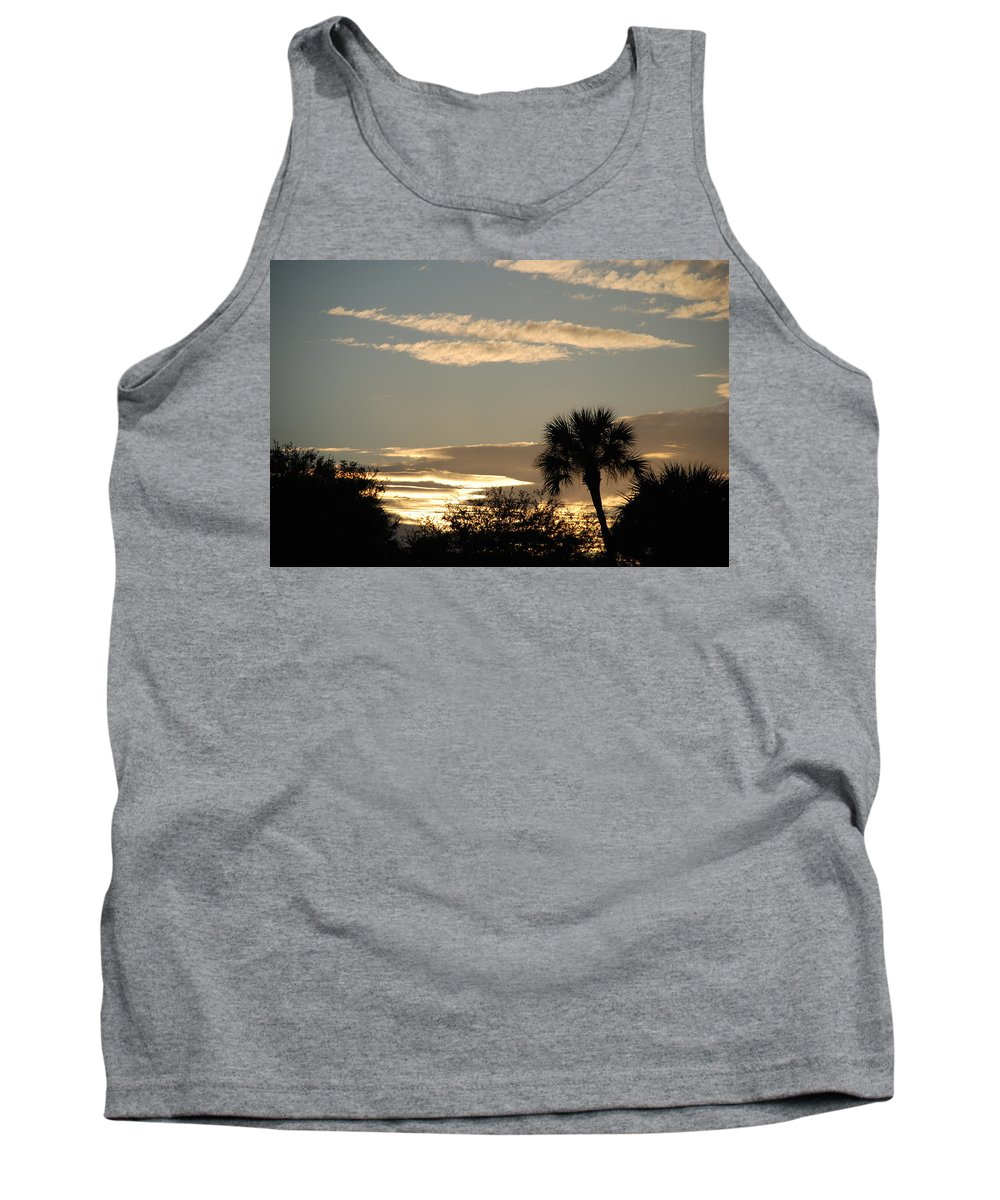 Clouds Palm Trees Tank Top featuring the photograph Sunsets In The West by Rob Hans