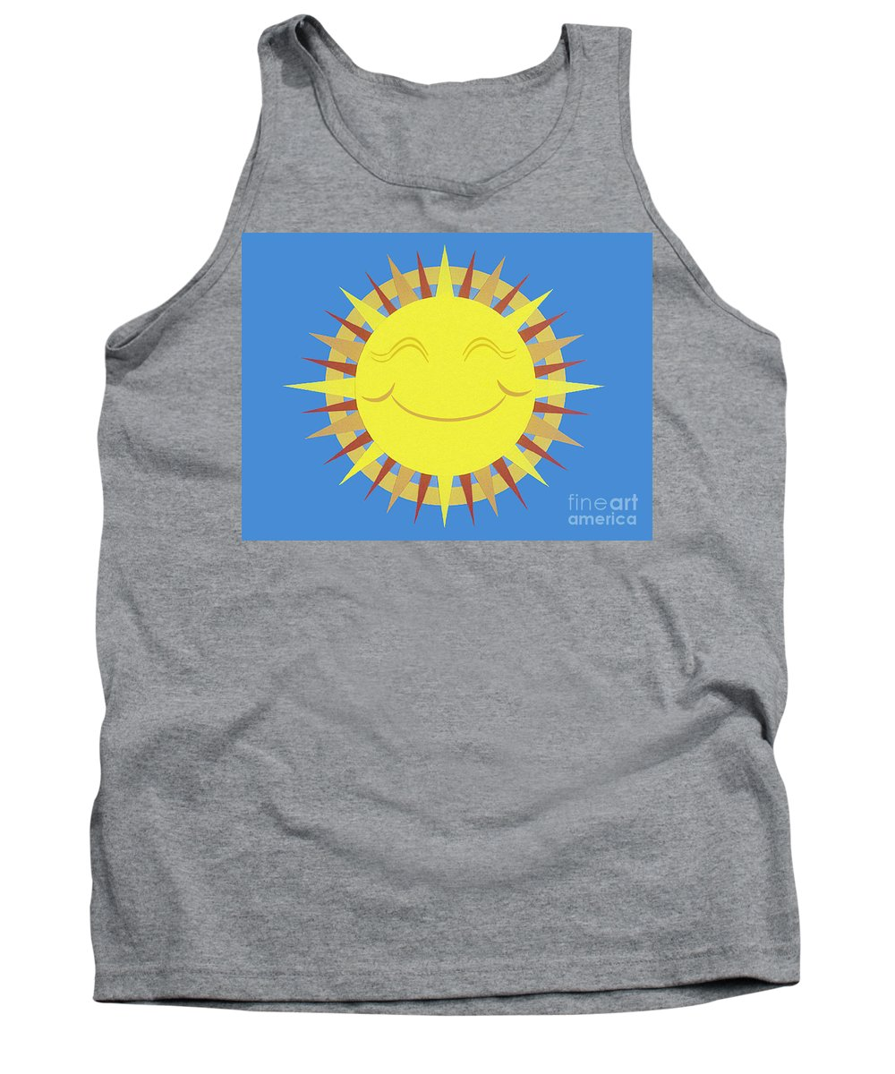 Nature Tank Top featuring the drawing Sunshine by Lucyna A M Green