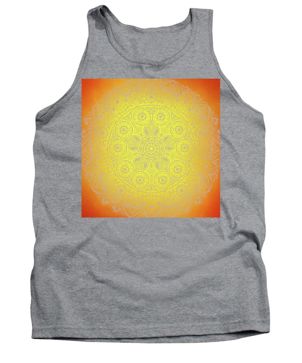 Mandala Tank Top featuring the digital art Sunshine Mandala by Susan Link
