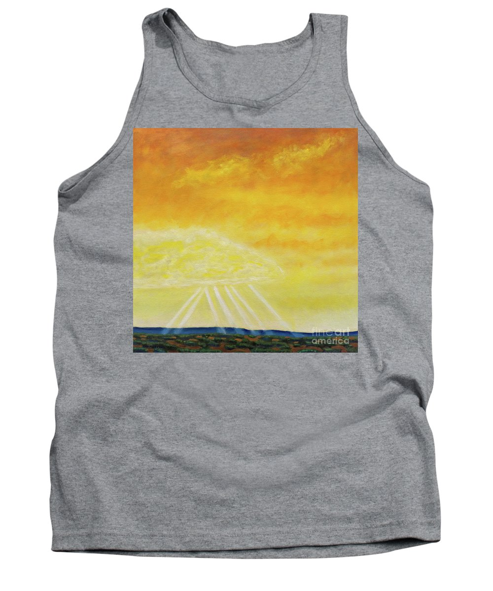 Landscape Tank Top featuring the painting Super Seven by Brian Commerford