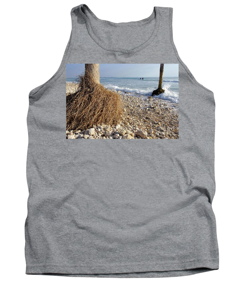 Surfing Tank Top featuring the photograph Surfing With Palms by David Lee Thompson