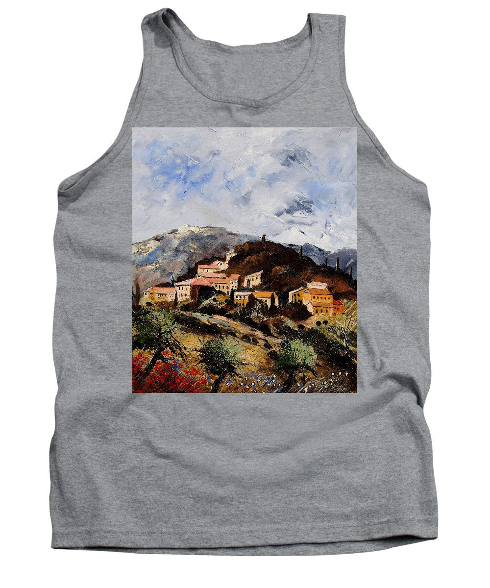 Tree Tank Top featuring the painting Suzette Provence by Pol Ledent