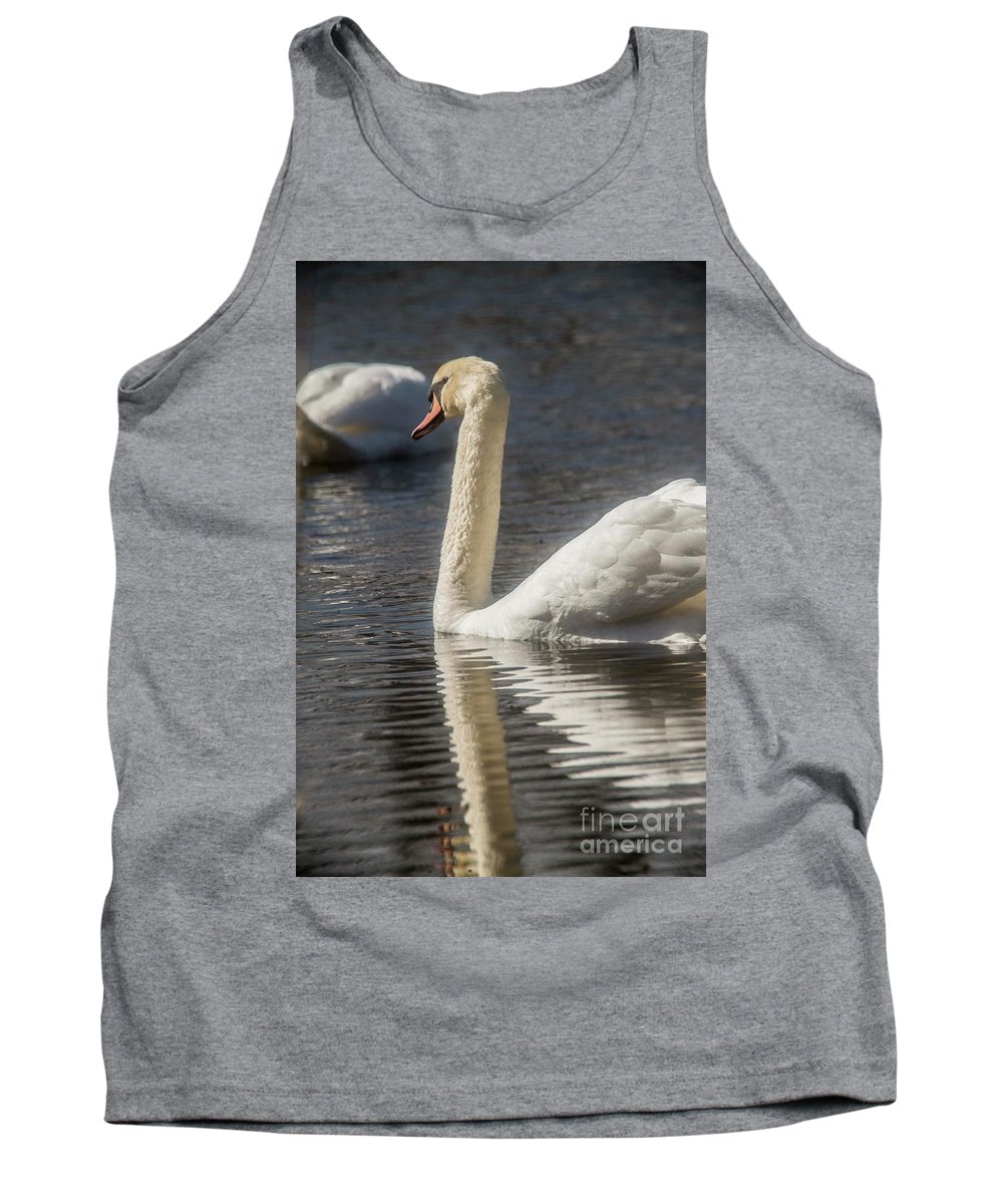Swan Tank Top featuring the photograph Swan by David Bearden
