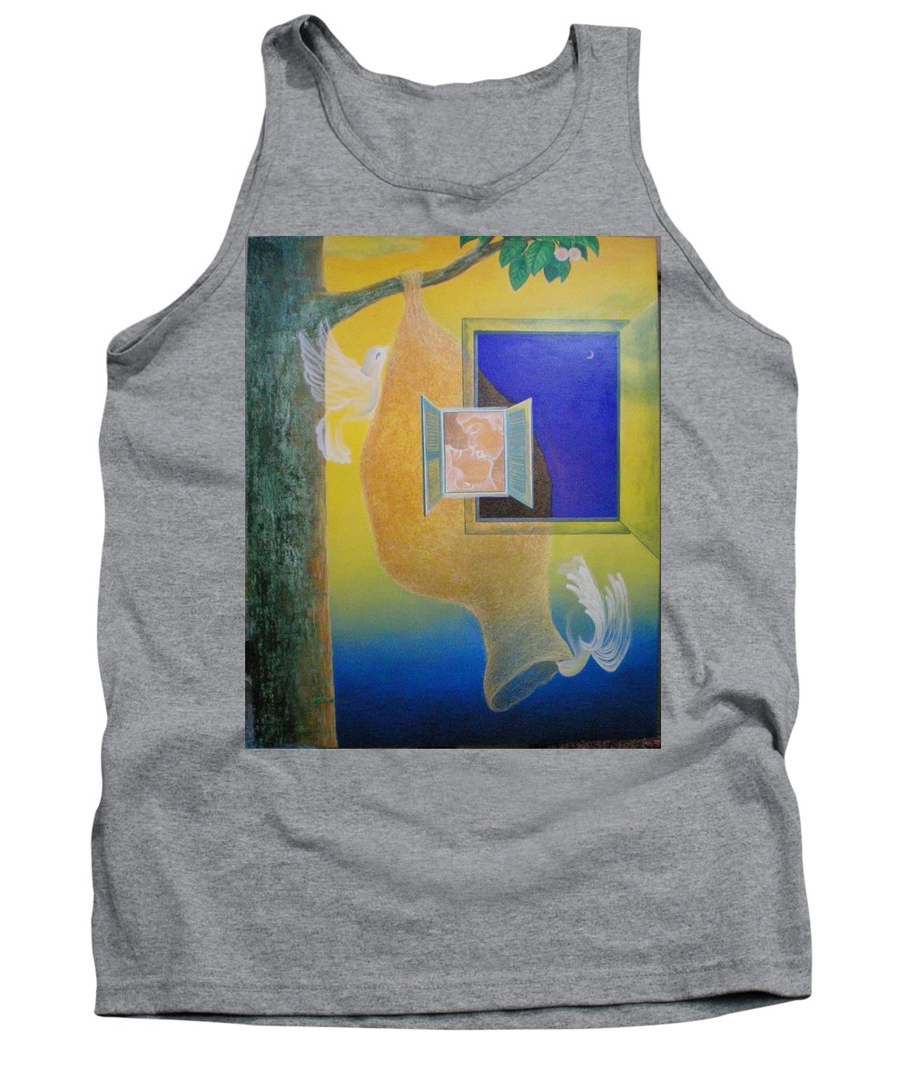 Romantic Tank Top featuring the painting Sweet Home by Raju Bose