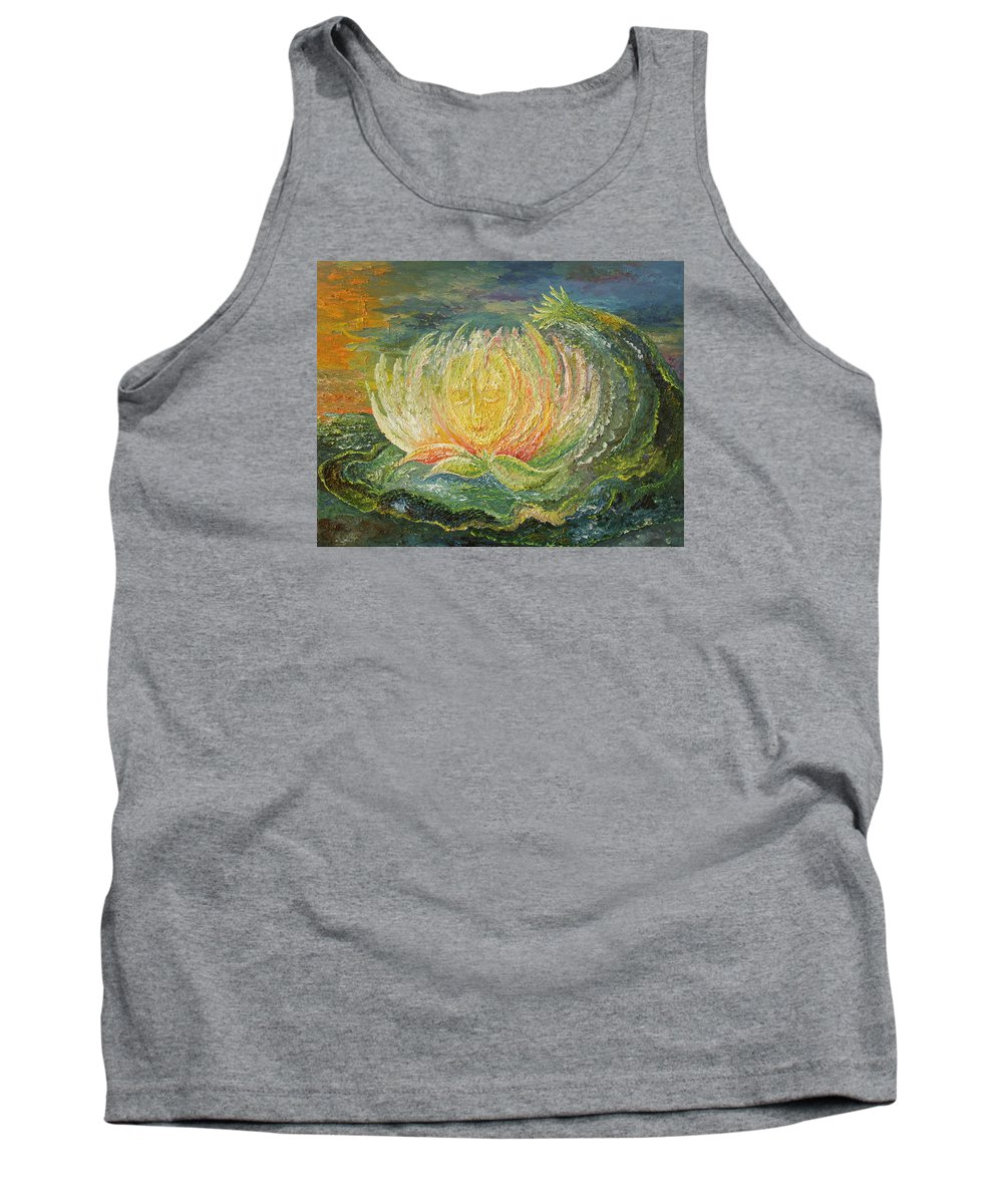 Flower Tank Top featuring the painting Sweet Morning Dream by Karina Ishkhanova