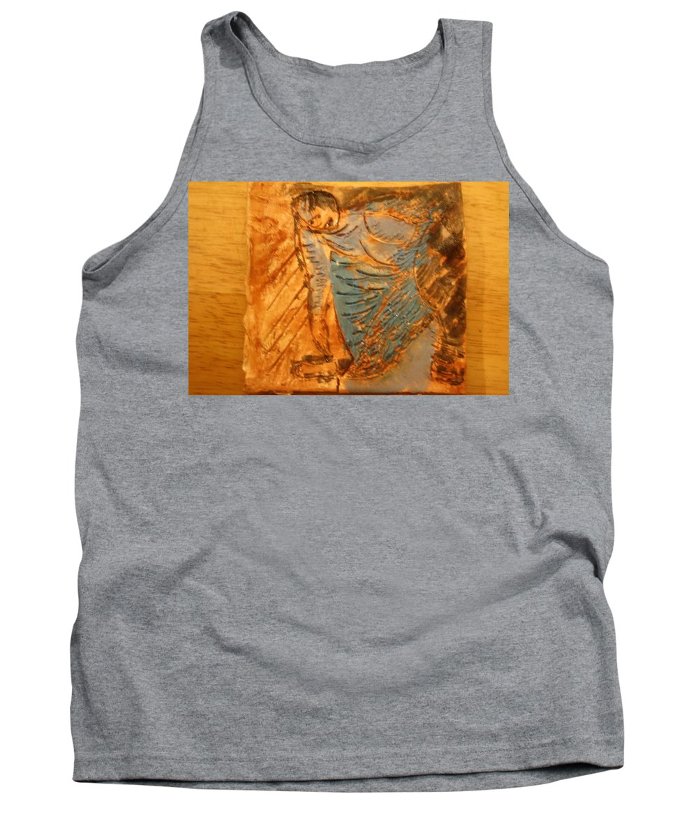 Jesus Tank Top featuring the ceramic art Sweetly Done - Tile by Gloria Ssali