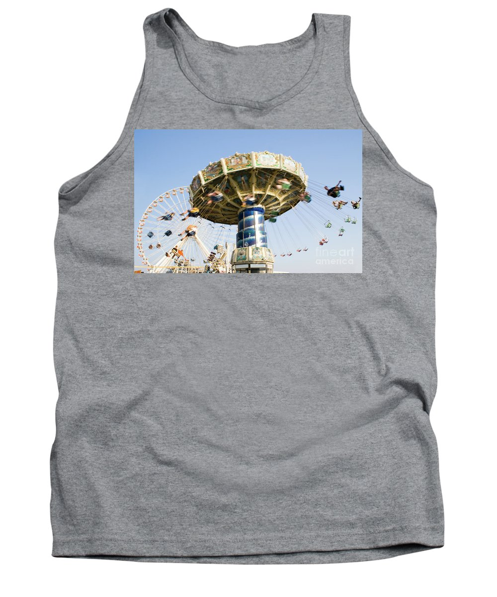 Fun Tank Top featuring the photograph Swing Ride by Anthony Totah