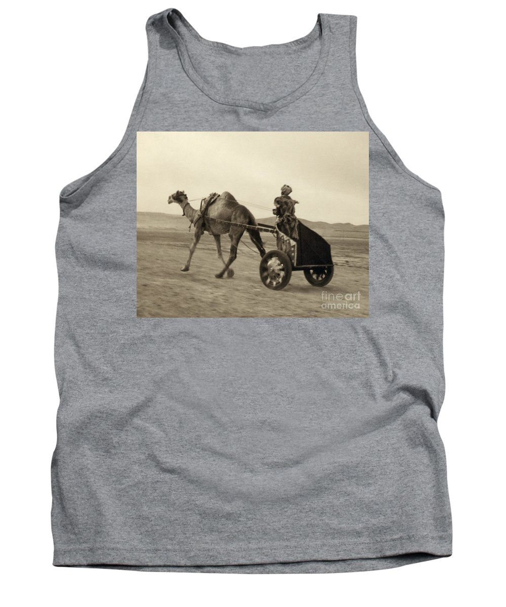1938 Tank Top featuring the photograph Syria: Camel Race, C1938 by Granger