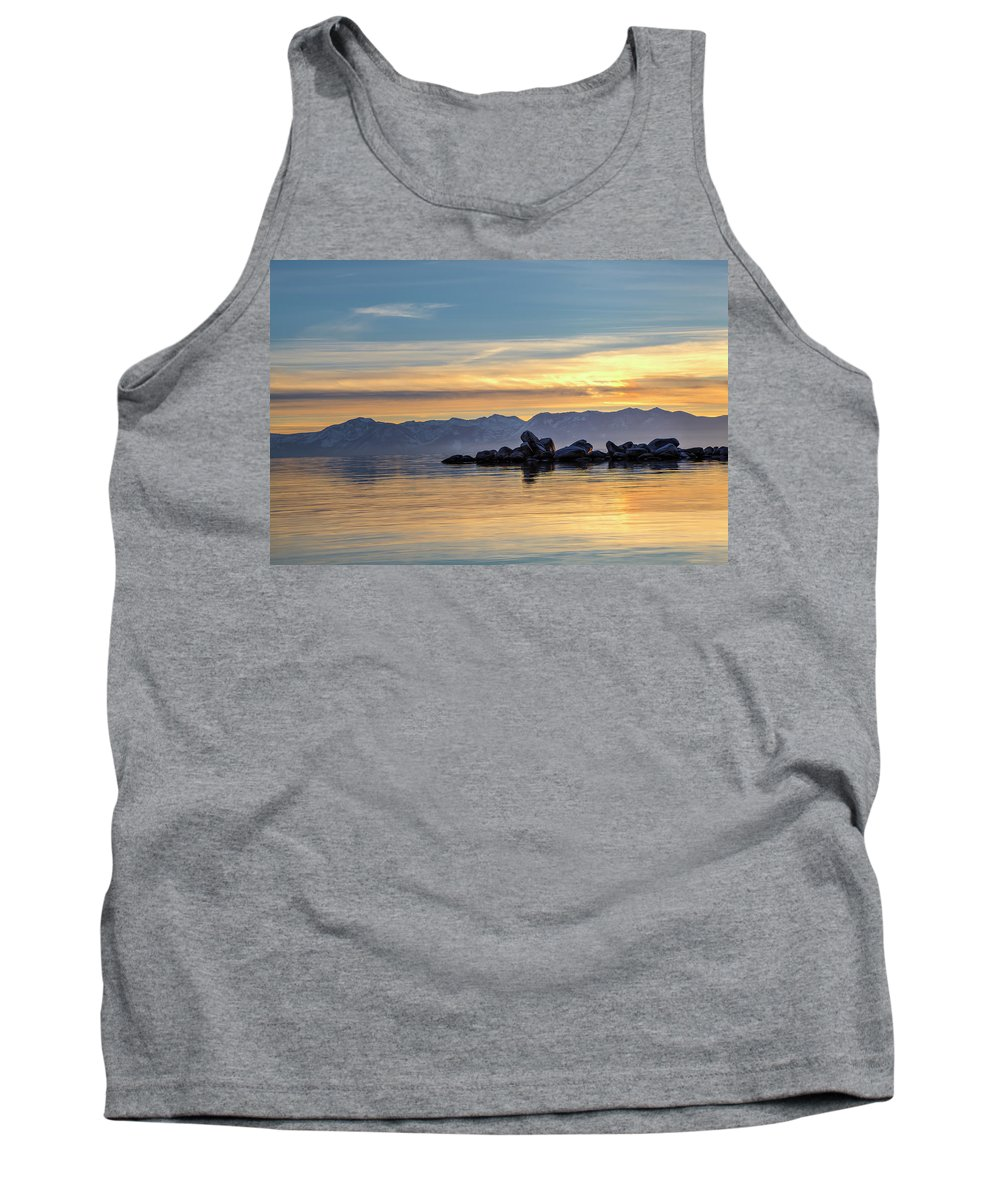 Lake Tank Top featuring the photograph Tahoe Sunset by Soroush Mostafanejad