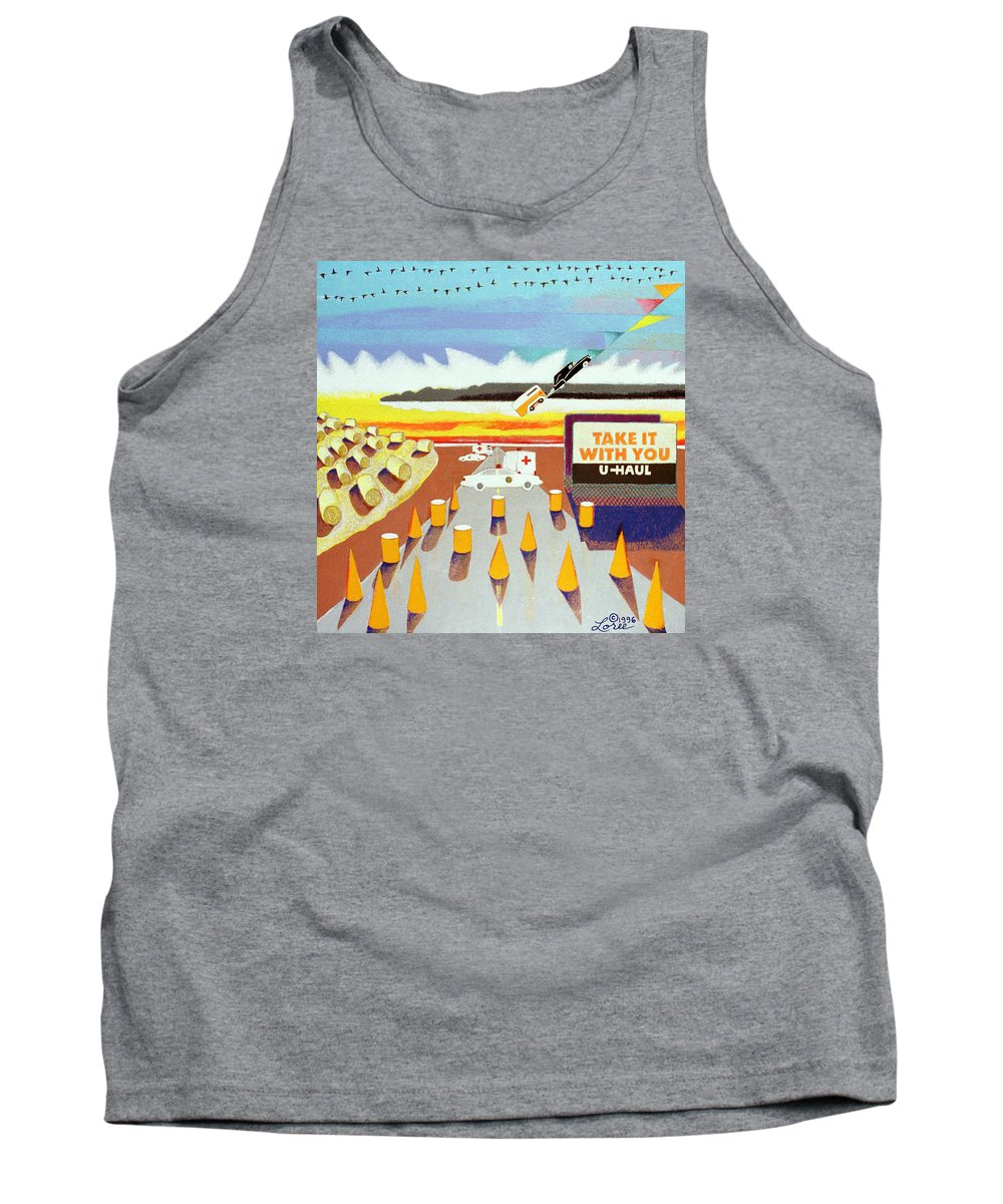 Billboard Tank Top featuring the painting Take It With You by Sharron Loree