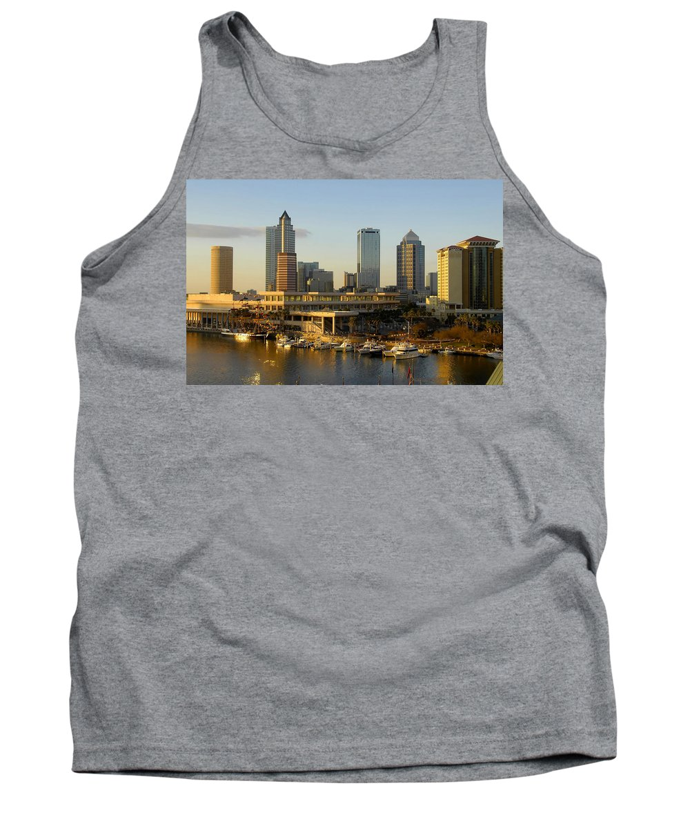 Tampa Bay Florida Tank Top featuring the photograph Tampa Bay And Gasparilla by David Lee Thompson
