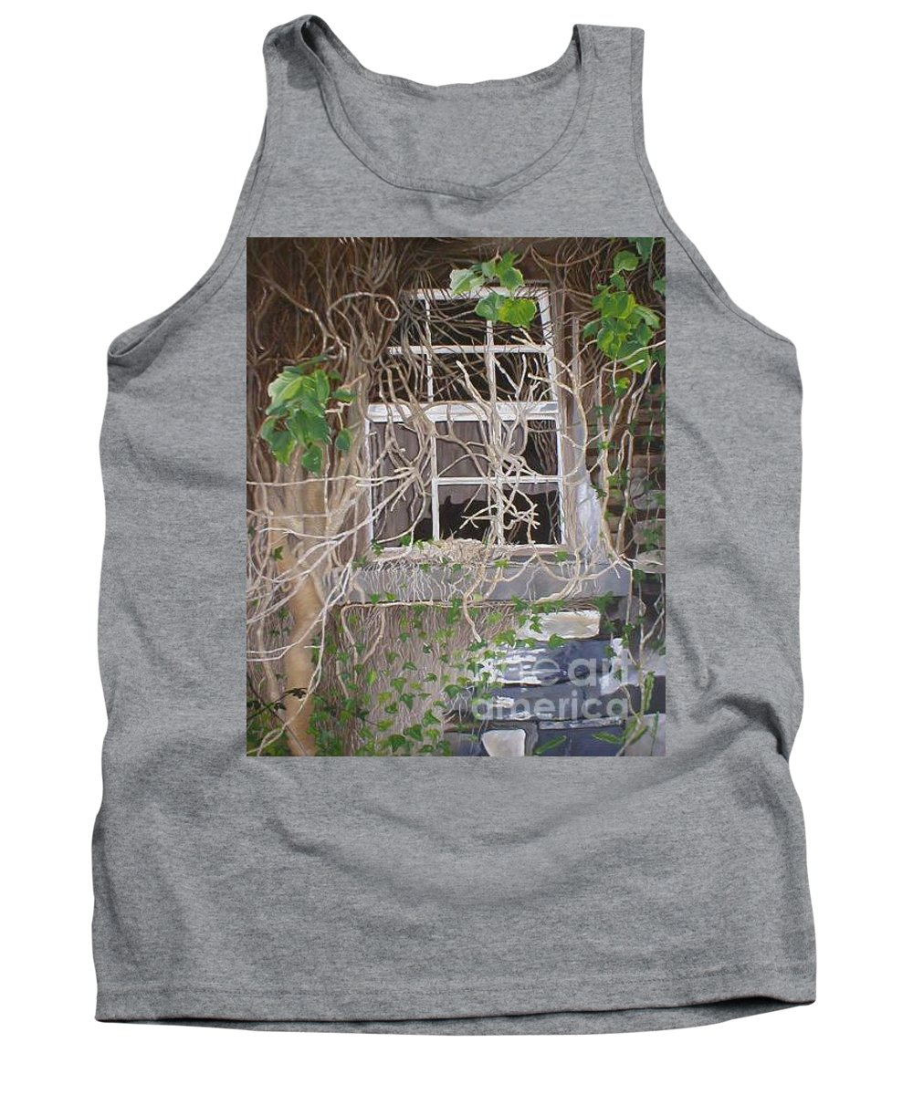 Landscape Tank Top featuring the painting Tangle Of Memories-clounleharde School by Pauline Sharp