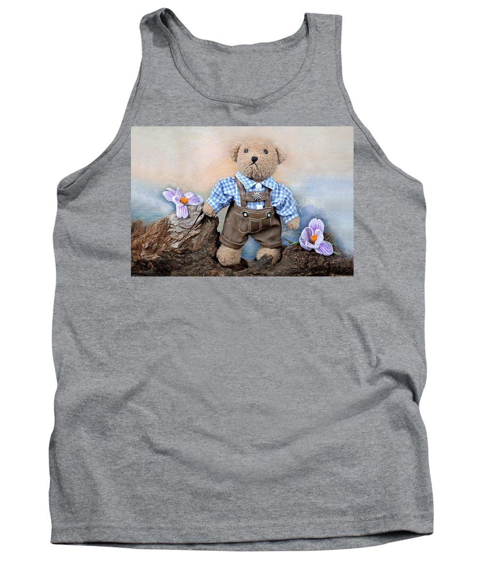 Teddy Tank Top featuring the photograph Teddy On Tour by Manfred Lutzius