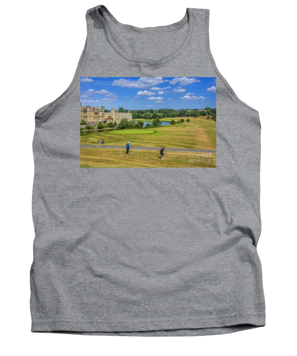 Leeds Castle Tank Top featuring the photograph Teeing Off At Leeds Castle by Chris Thaxter