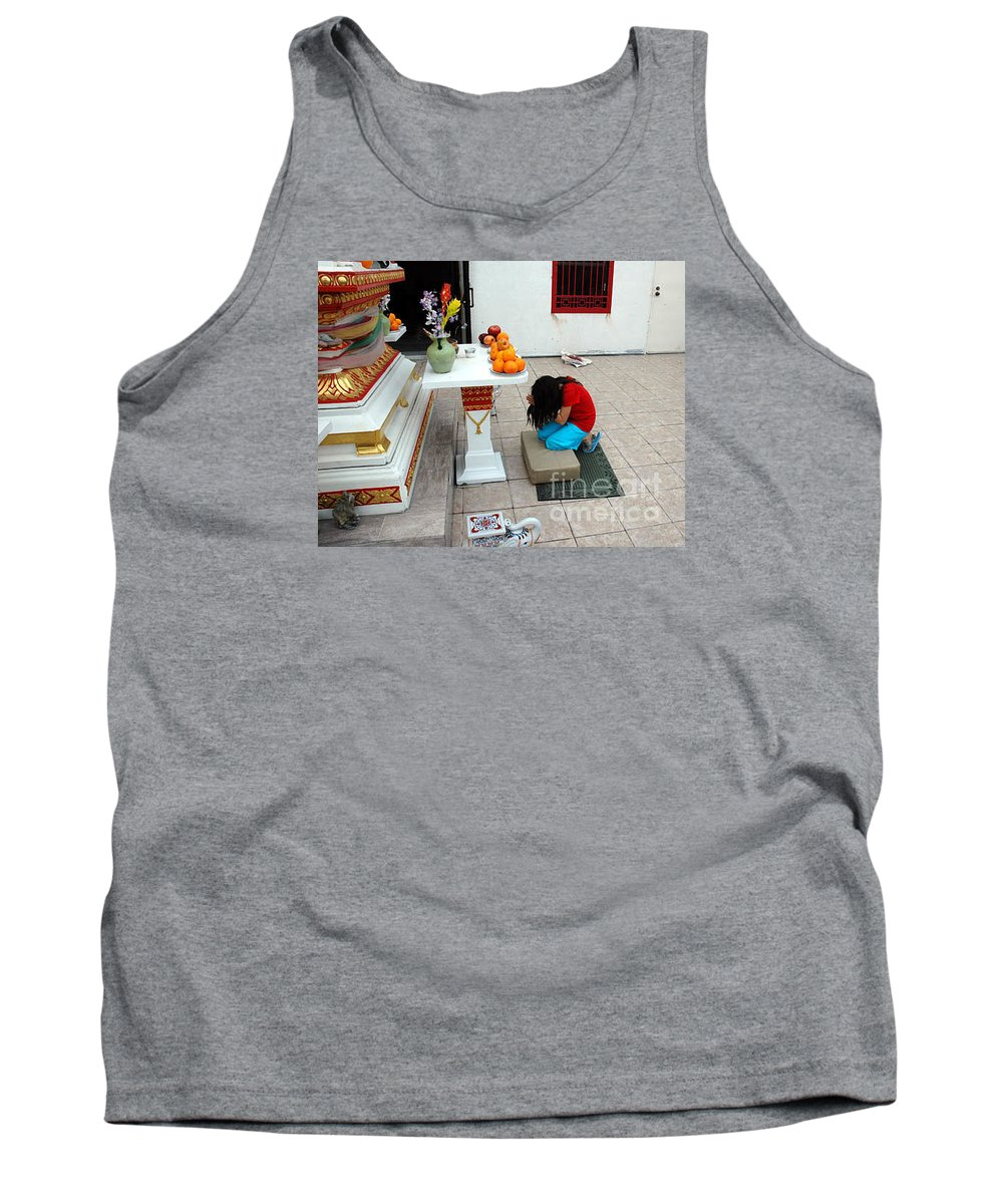 Child Tank Top featuring the photograph Temple Prayer by Michael Ziegler