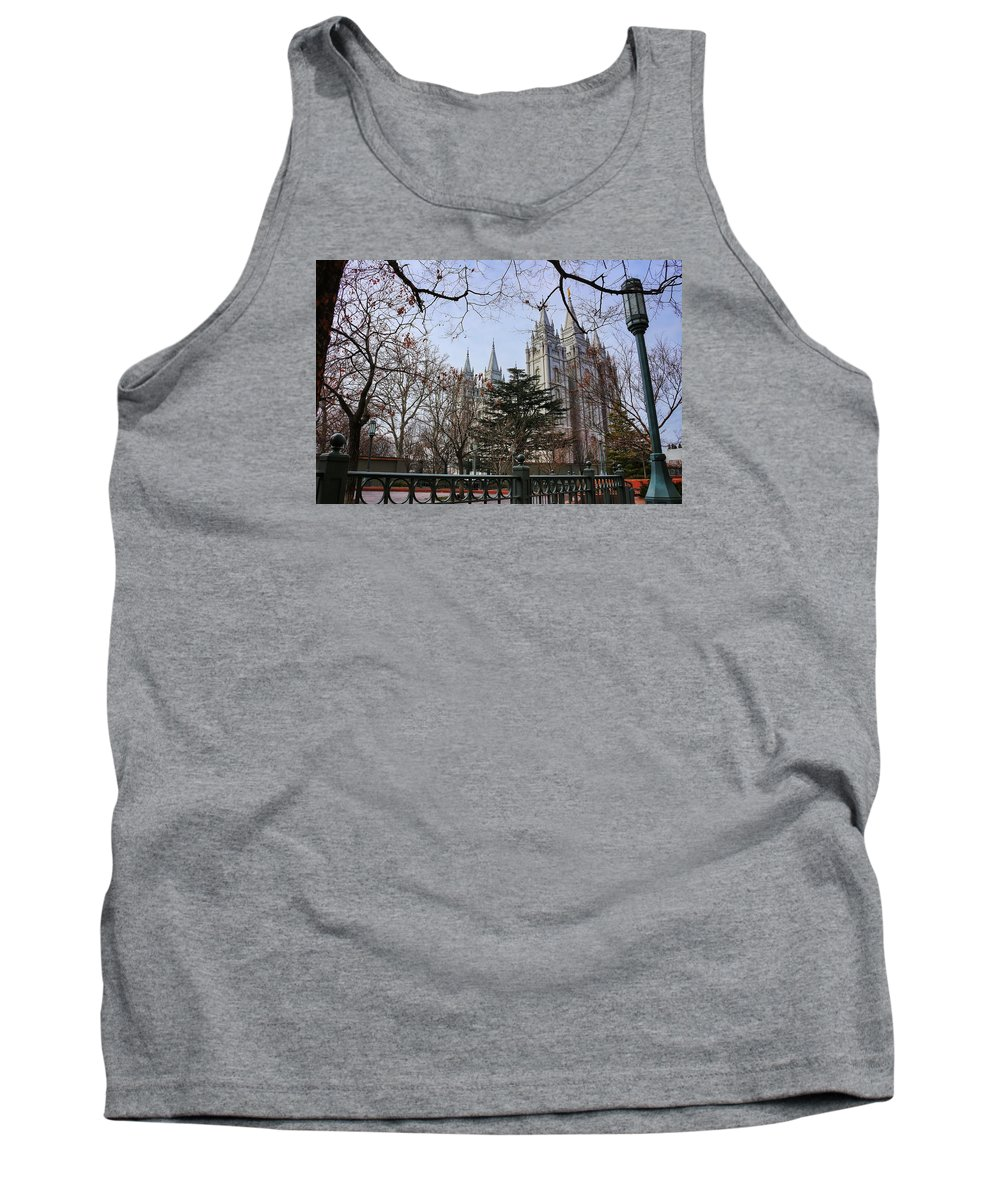 Mormon Tank Top featuring the photograph Temple View by Buck Buchanan