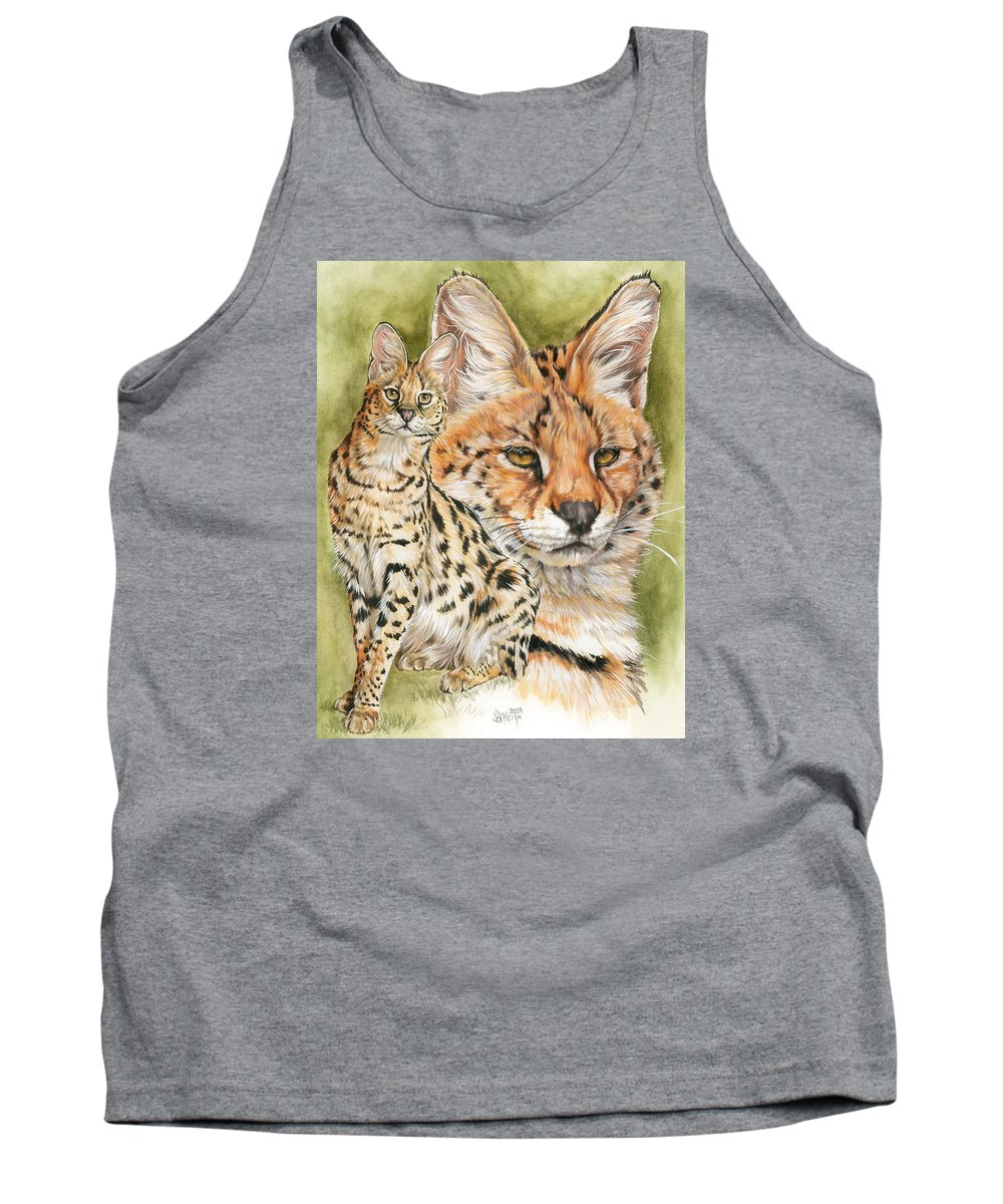 Serval Tank Top featuring the mixed media Tempo by Barbara Keith