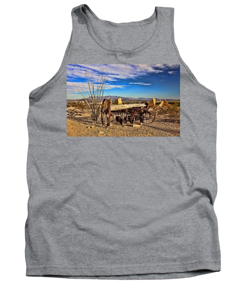 Terlingua Tank Top featuring the photograph Terlingua Ghost Town 2 by Judy Vincent