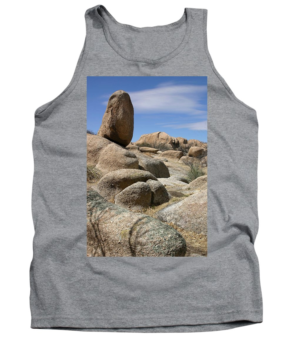 Rock Tank Top featuring the photograph Texas Canyon by Joe Kozlowski