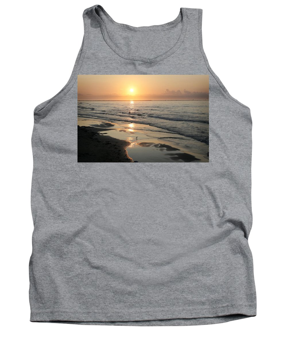 Water Tank Top featuring the photograph Texas Gulf Coast At Sunrise by Marilyn Hunt