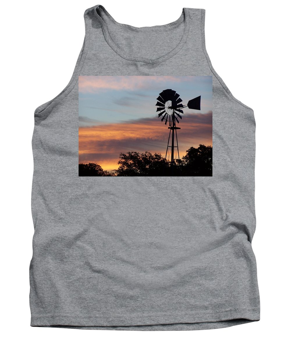 Windmill Tank Top featuring the photograph Texas Sunrise by Gale Cochran-Smith