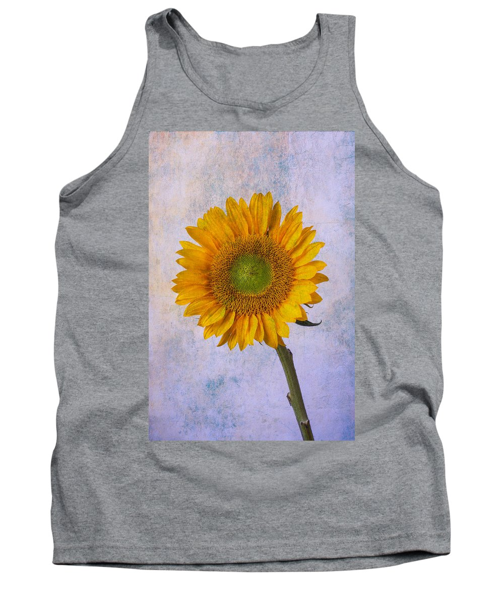 Sunflower Tank Top featuring the photograph Textured Sunflower by Garry Gay
