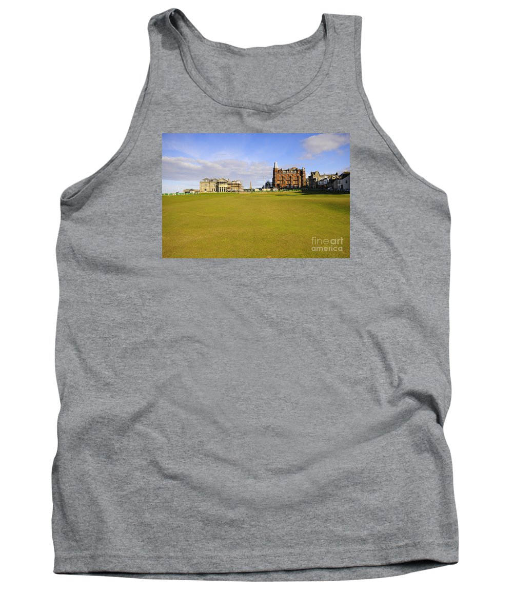 St Andrews Tank Top featuring the photograph The 18th by Smart Aviation