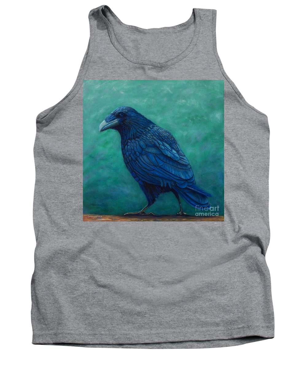 Raven Tank Top featuring the painting The Ancient One by Brian Commerford