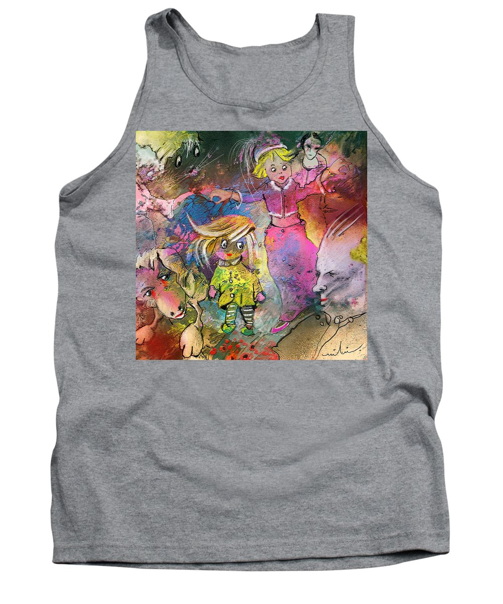 Fantasy Tank Top featuring the painting The Angry Father by Miki De Goodaboom