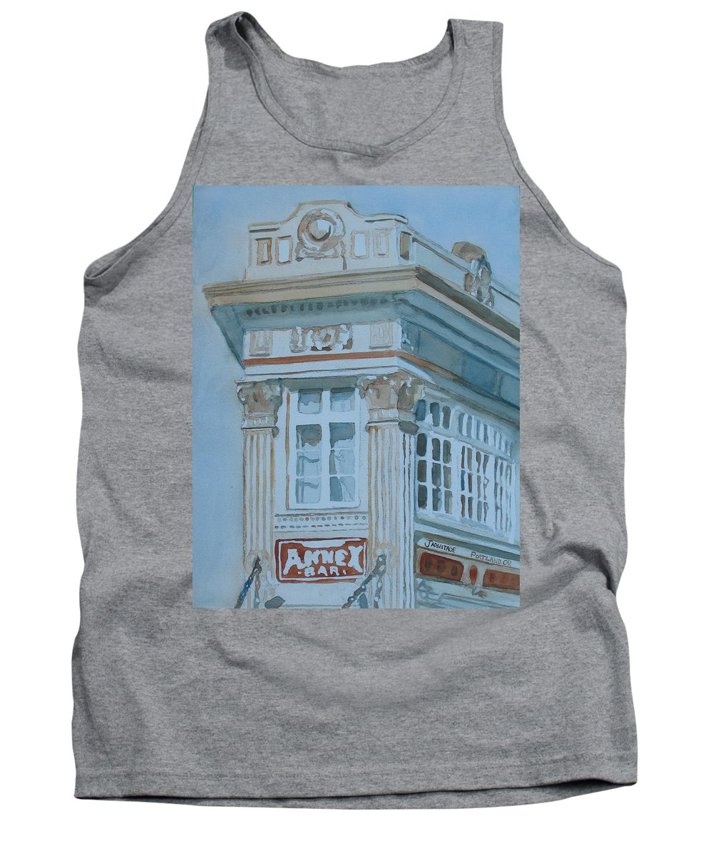 Bar Tank Top featuring the painting The Annex Bar by Jenny Armitage