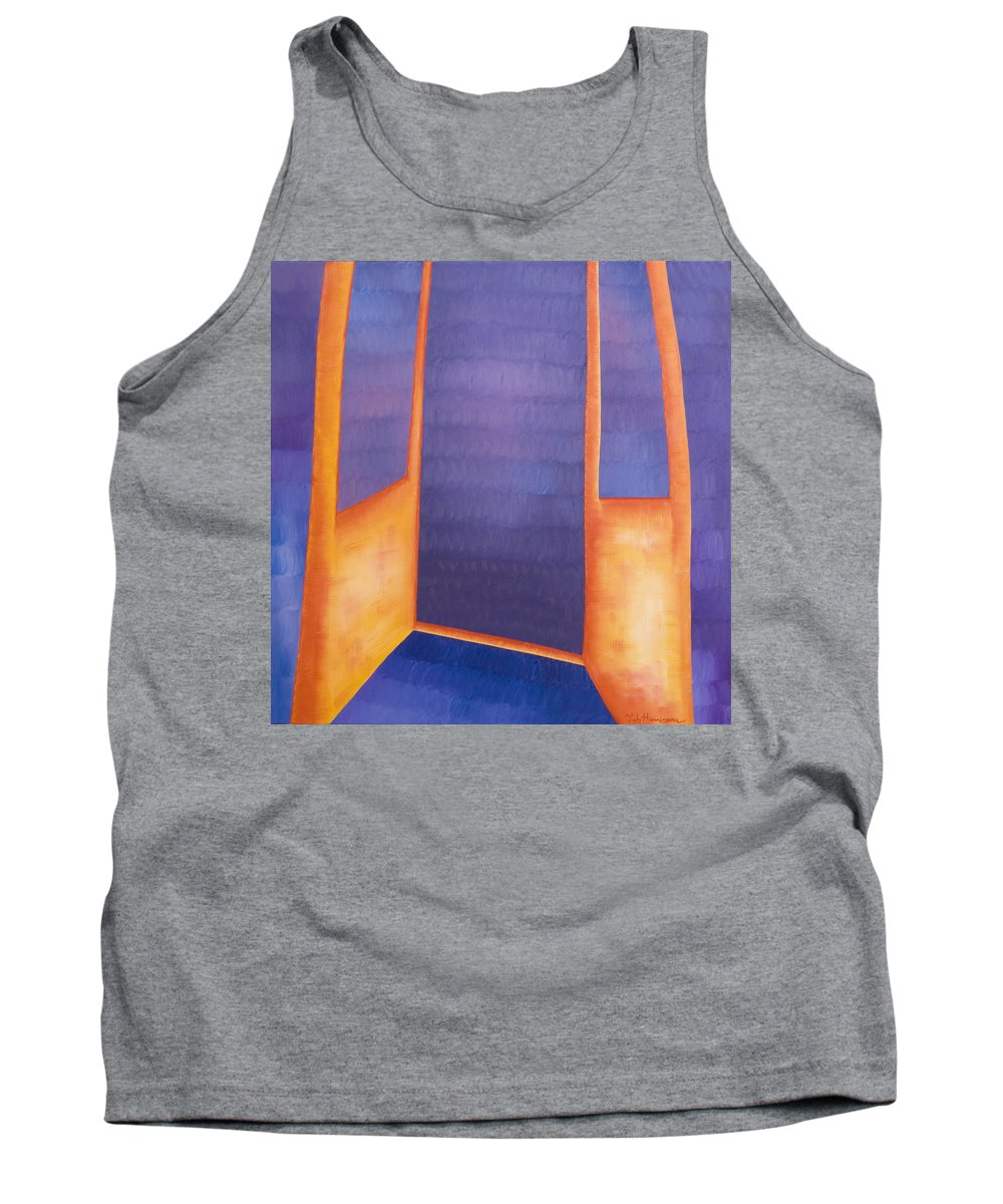 Death Tank Top featuring the painting The Arrival by Judy Henninger