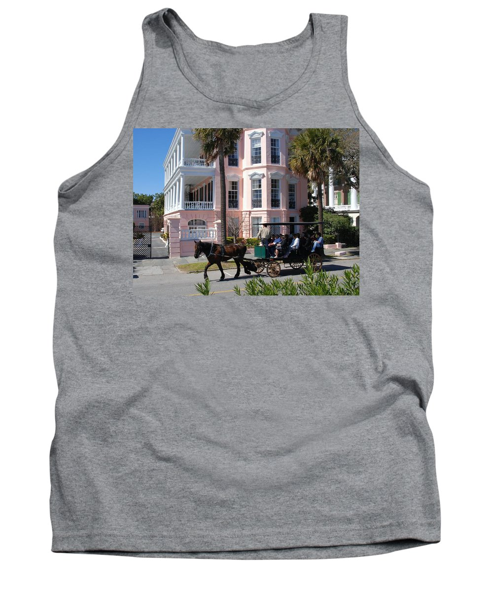 Photography Tank Top featuring the photograph The Battery In Charleston by Susanne Van Hulst
