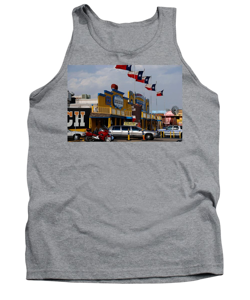 The Big Texan Tank Top featuring the photograph The Big Texan In Amarillo by Susanne Van Hulst