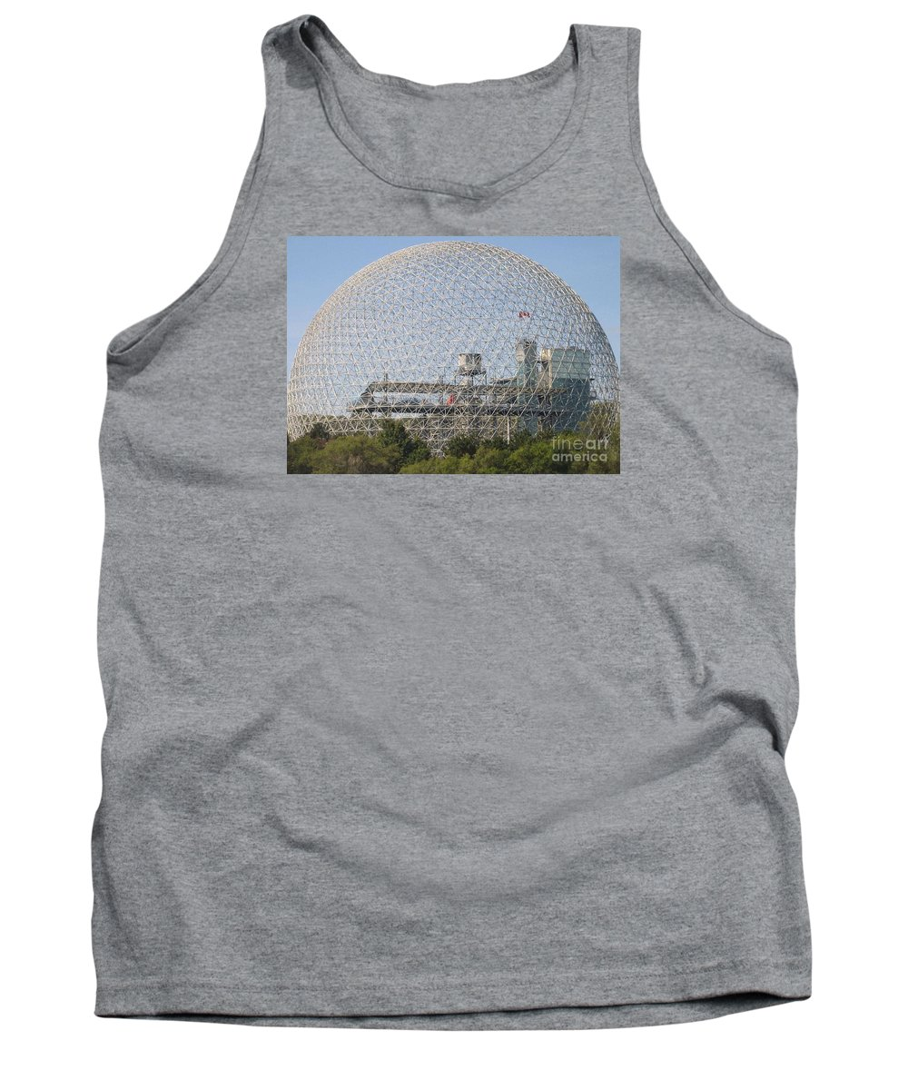 Biosphere Tank Top featuring the photograph The Biosphere Ile Sainte-helene Montreal Quebec by Reb Frost