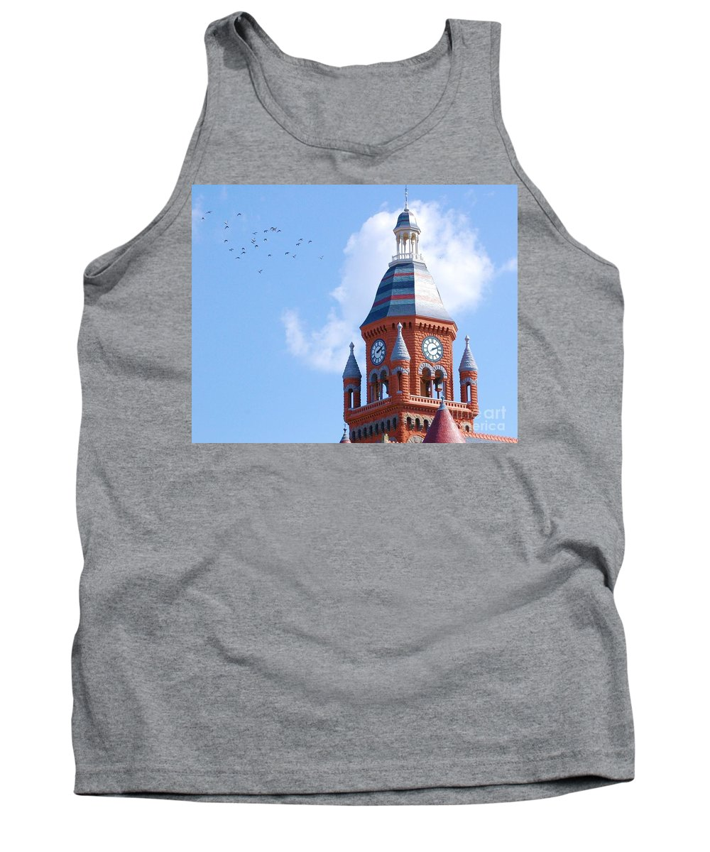 Clock Tank Top featuring the photograph The Birds by Debbi Granruth